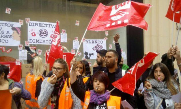 El 100% de la plantilla de Blanco en Cataluña ha secundado la jornada de huelga de hoy