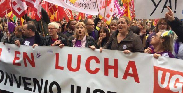 Gran éxito de seguimiento en la primera jornada de huelga en el sector de limpieza de edificios de Catalunya
