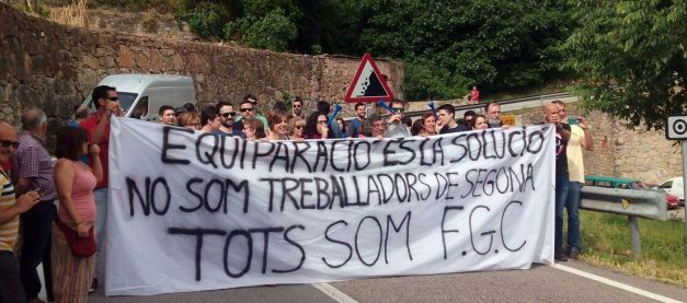 Este fin de semana huelga en el Cremallera y los Funiculares de Montserrat