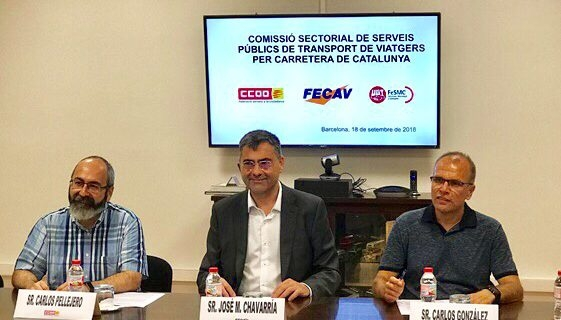 Sindicatos y patronal constituyen la Comisión de Servicios Públicos de Transporte de Viajeros por Carretera de Catalunya